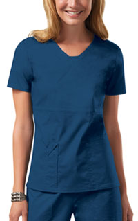 Cherokee Workwear V-Neck Top Caribbean Blue (24703-CARW)
