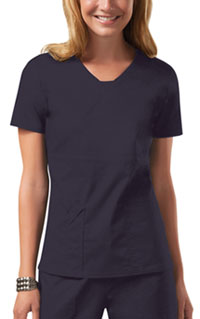 Cherokee Workwear V-Neck Top Pewter (24703-PWTW)