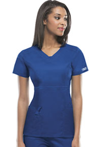 Cherokee Workwear V-Neck Top Royal (24703-ROYW)