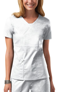 Cherokee Workwear V-Neck Top White (24703-WHTW)