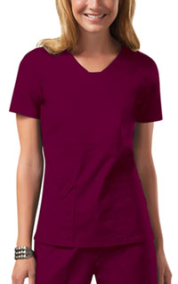 Cherokee Workwear V-Neck Top Wine (24703-WINW)