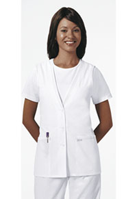Professional Whites Lace Trimmed Vest (2610-WHTD) (2610-WHTD)