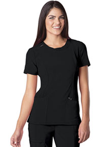 Cherokee Round Neck Top Black (2624A-BAPS)