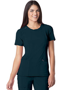 Cherokee Round Neck Top Caribbean Blue (2624A-CAPS)