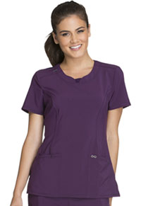 Cherokee Round Neck Top Eggplant (2624A-EGG)