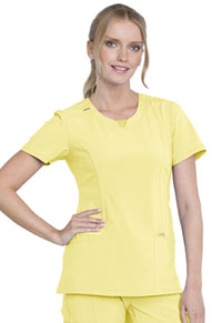 Cherokee Round Neck Top Lovely Lemon (2624A-LOMO)