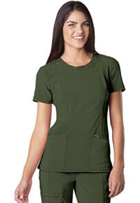 Cherokee Round Neck Top Olive (2624A-OLPS)