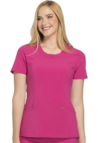 Cherokee Round Neck Top Power Berry (2624A-POBR)