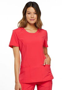 Cherokee Round Neck Top Punch (2624A-PUNC)