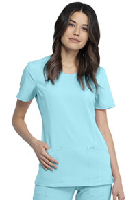 Cherokee Round Neck Top Sea Salt (2624A-STAL)