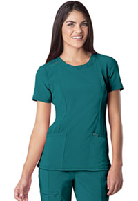Cherokee Round Neck Top Teal Blue (2624A-TLPS)