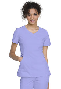 Cherokee Mock Wrap Top Blue Lilac (2625A-BULC)
