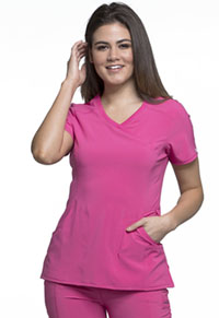 Cherokee Mock Wrap Top Carmine Pink (2625A-CPPS)