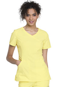 Cherokee Mock Wrap Top Lovely Lemon (2625A-LOMO)