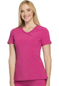 Cherokee Mock Wrap Top Power Berry (2625A-POBR)