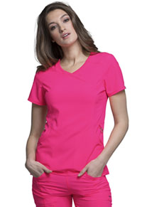 Cherokee Mock Wrap Top Poppy Pink (2625A-PONK)