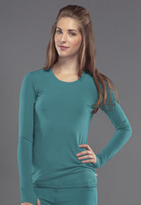 Cherokee Long Sleeve Underscrub Knit Tee Teal Blue (2626A-TLPS)