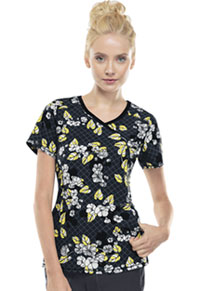Cherokee Mock Wrap Top Digital Bloom (2628A-DIBO)