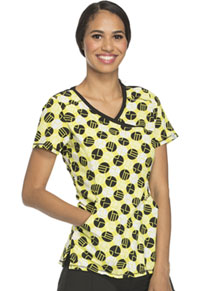 Cherokee Mock Wrap Top Dots So Mod! (2628A-DTMO)
