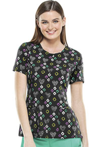 Cherokee Round Neck Top Love That Geo (2629A-LVGE)