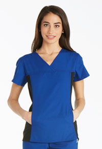 Cherokee V-Neck Knit Panel Top Galaxy Blue (2874-GABB)