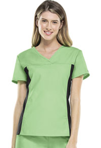 Cherokee V-Neck Knit Panel Top Pistachio Gelato (2874-PTGB)