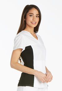 V-Neck Knit Panel Top