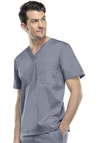 Cherokee Workwear Unisex V-Neck Top Grey (34777A-GRYW)