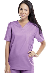 Cherokee Workwear Unisex V-Neck Top Vibrant Orchid (34777A-VBOW)