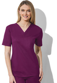 Cherokee Workwear Unisex V-Neck Top Wine (34777A-WINW)
