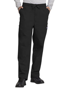 Cherokee Workwear Men's Fly Front Cargo Pant Black (4000-BLKW)