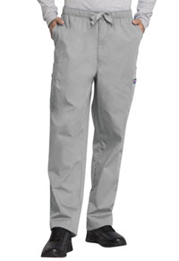 Cherokee Workwear Men's Drawstring Cargo Pant Grey (4000-GRYW)