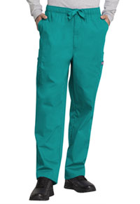 Cherokee Workwear Men's Fly Front Cargo Pant Teal Blue (4000-TLBW)