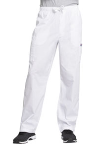 Cherokee Workwear Men's Drawstring Cargo Pant White (4000-WHTW)