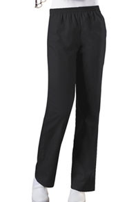 Cherokee Workwear Natural Rise Tapered Leg Pull-On Pant Black (4001-BLKW)