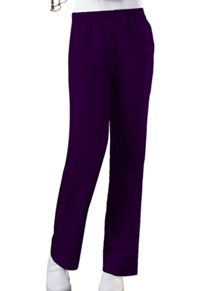 Cherokee Workwear Natural Rise Tapered Leg Pull-On Pant Eggplant (4001-EGGW)