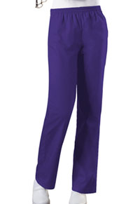Cherokee Workwear Natural Rise Tapered Leg Pull-On Pant Grape (4001-GRPW)