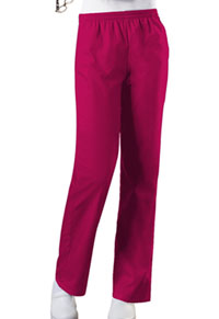 Cherokee Workwear Natural Rise Tapered Leg Pull-On Pant Raspberry (4001-RASW)
