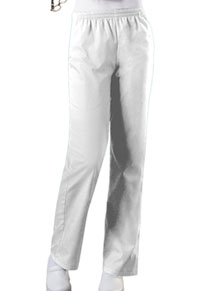 Cherokee Workwear Natural Rise Tapered Leg Pull-On Pant White (4001-WHTW)