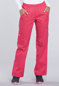 Cherokee Workwear Mid Rise Pull-On Pant Cargo Pant Fruit Punch (4005T-FTP)
