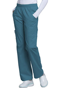 Cherokee Workwear Mid Rise Pull-On Pant Cargo Pant Caribbean Blue (4005-CARW)