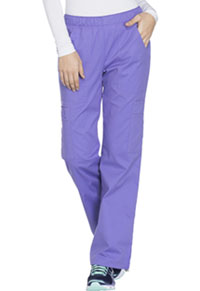 Cherokee Workwear Mid Rise Pull-On Pant Cargo Pant Vivid Violet (4005-VDVO)