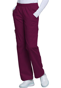 Cherokee Workwear Mid Rise Pull-On Pant Cargo Pant Wine (4005-WINW)