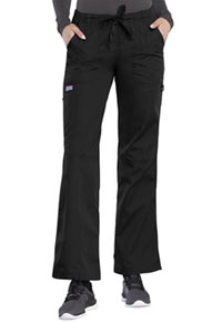 Cherokee Workwear Low Rise Drawstring Cargo Pant Black (4020-BLKW)