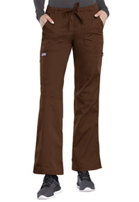 Cherokee Workwear Low Rise Drawstring Cargo Pant Chocolate (4020-CHCW)