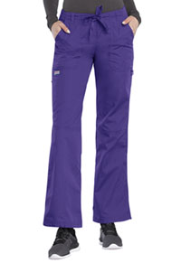 Cherokee Workwear Low Rise Drawstring Cargo Pant Grape (4020-GRPW)