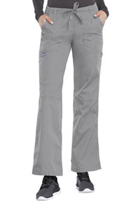 Cherokee Workwear Low Rise Drawstring Cargo Pant Grey (4020-GRYW)