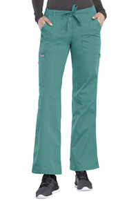 Cherokee Workwear Low Rise Drawstring Cargo Pant Teal Blue (4020-TLBW)