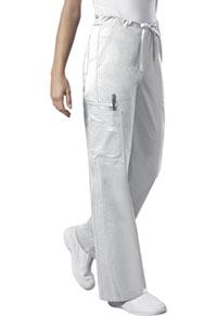 Cherokee Workwear Unisex Drawstring Cargo Pant White (4043-WHTW)