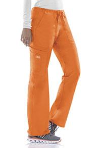 Cherokee Workwear Mid Rise Drawstring Cargo Pant Pumpkin (4044-PUNW)